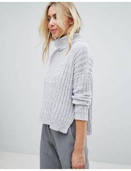 brave-soul-roll-neck-jumper-in-twist-yarn by jumper