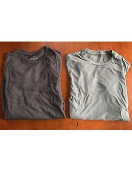 lot-of-2-j-crew-xs-t-shirts:-long-sleeve-charcoal-and-short-sleeve-sage-euc by ebay-seller