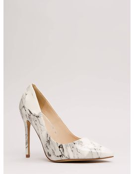 art-gallery-pointy-marbled-pumps by gojane