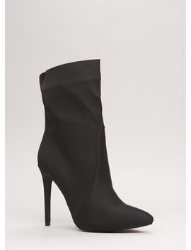 just-the-ticket-pointy-satin-booties by gojane