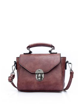 pushlock-flap-pu-shoulder-bag-with-handle by romwe