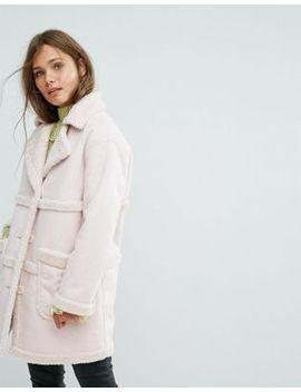 miss-selfridge-exclusive-reversible-faux-shearling-coat by miss-selfridge
