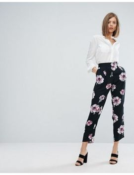 warehouse-oversize-floral-print-cropped-pants by warehouse