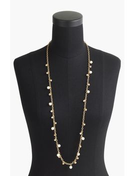 jcrew-long-crystal-&-faux-pearl-necklace by j-crew