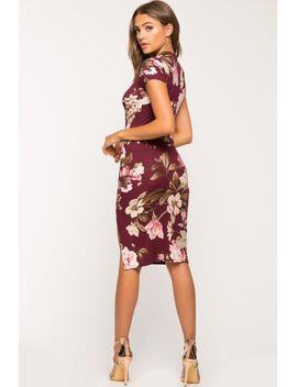 blooms-floral-slit-column-dress by agaci