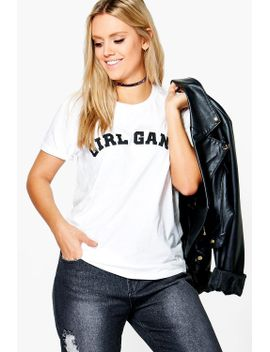"plus-robyn-""""girl-gang""""-t-shirt by boohoo"