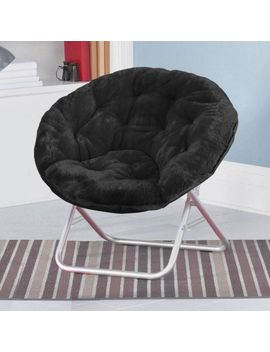 mainstays-faux-fur-saucer-chair,-available-in-multiple-colors by mainstays