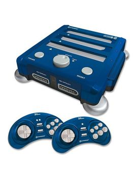 retron-3-3-in-1-nes,-snes,-and-sega-genesis-gaming-system---blue by hyperkin