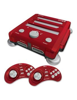 retron-3-3-in-1-nes,-snes,-and-sega-genesis-gaming-system---red by hyperkin