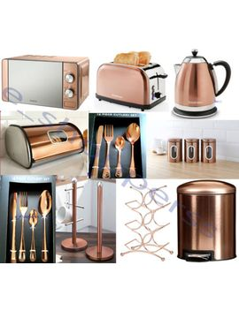 copper-microwave,diam<wbr>ond-kettle,2-slice-toaster-16pccutleryset-&-3-canisters-set by ebay-seller