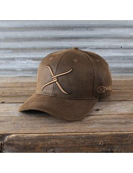 twisted-x-brown-oilcloth-logo-ball-cap by rods