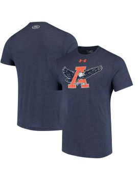 auburn-tigers-under-armour-throwback-logo-tri-blend-performance-t-shirt---navy by under-armour