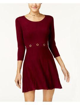 juniors-grommet-fit-&-flare-sweater-dress by bcx