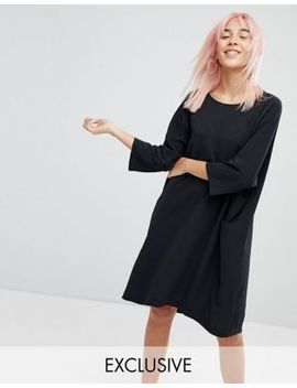 monki-side-pocket-smock-dress by monki