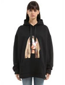 cara-printed-hooded-cotton-sweatshirt by 11-eleven