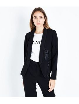 black-rose-embroidered-tux-jacket by new-look