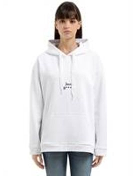 justin-printed-hooded-cotton-sweatshirt by 11-eleven