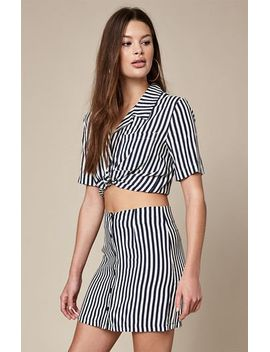button-down-striped-skirt by la-hearts