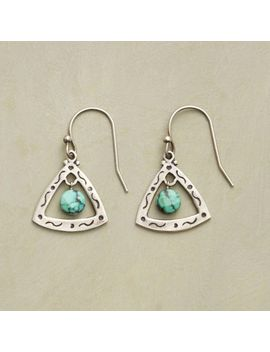 turquoise-trillion-earrings by sundance