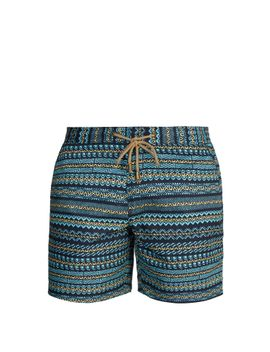titan-fit-aztec-print-swim-shorts by thorsun