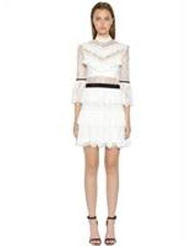 fine-lace-mini-dress by self-portrait