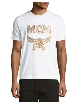 metallic-visetos-logo-t-shirt by mcm