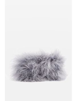 marabou-zip-top-purse by topshop