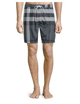 check-swim-trunks,-charcoal by burberry