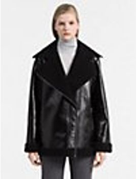 coated-faux-shearling-jacket by calvin-klein