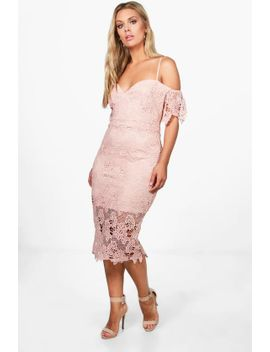 plus-corded-lace-midi-dress by boohoo