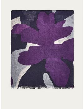 floral-print-wool-foulard by massimo-dutti