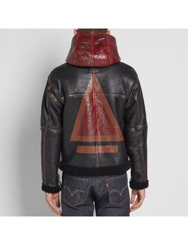 nigel-cabourn-authentic-handpainted-dropzone-sheepskin-jacket by nigel-cabourn