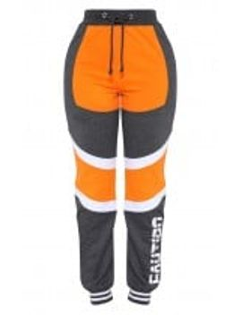 shape-orange-caution-contrast-joggers by prettylittlething
