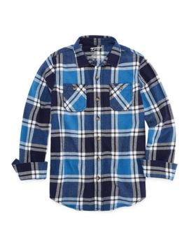 arizona-long-sleeve-flannel-boys-8-20-&-husky by arizona