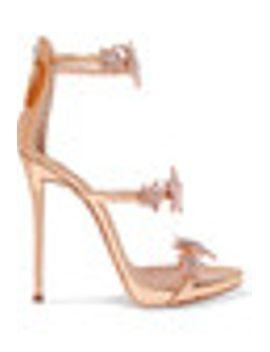 coline-crystal-embellished-appliquéd-metallic-leather-sandals by giuseppe-zanotti