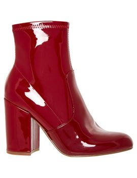 red-patent-heeled-ankle-boots by steve-madden