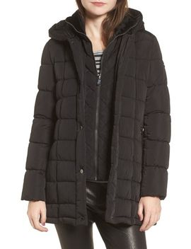 quilted-down-coat-with-vest-inset by calvin-klein