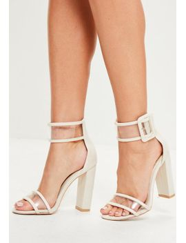 white-denim-clear-ankle-strap-block-heels by missguided