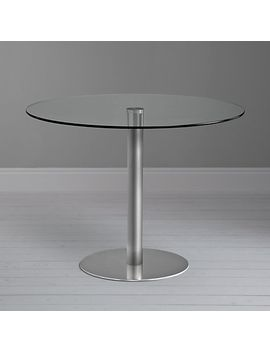 john-lewis-&-partners-enzo-4-seater-round-glass-top-dining-table by john-lewis-&-partners