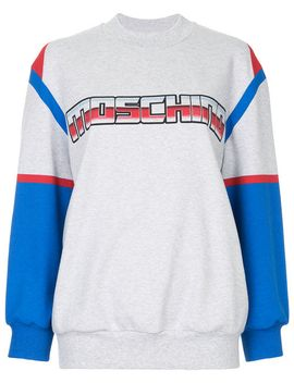 sweater-met-geprint-logo by moschino