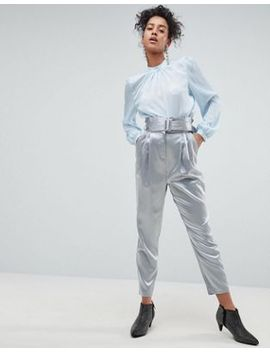asos-tailored-pants-with-paperbag-waist by asos-collection