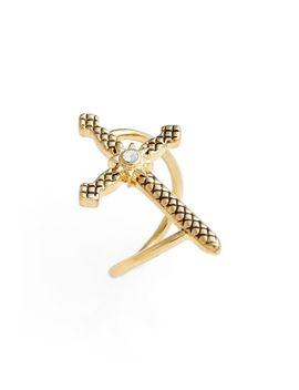 serpent-cross-ring by luv-aj