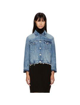 blue-denim-shrunken-tacked-jacket by helmut-lang