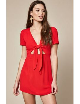 la-hearts-tie-front-dress by pacsun