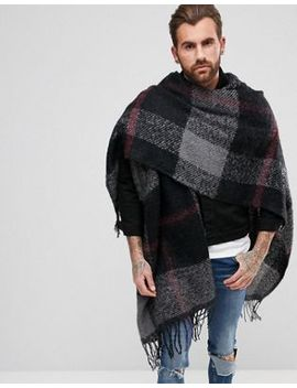 asos-cape-in-multi-check by asos