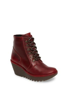 yarn-lace-up-wedge-boot by fly-london
