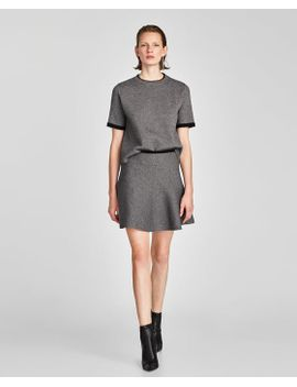 tricot-jurk-met-knopen by zara