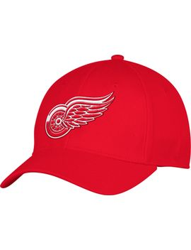 adidas-mens-detroit-red-wings-team-colored-basic-structured-red-flex-hat by adidas