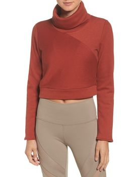 soleil-funnel-neck-crop-pullover by alo