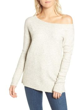 urban-flossy-one-shoulder-sweater by french-connection